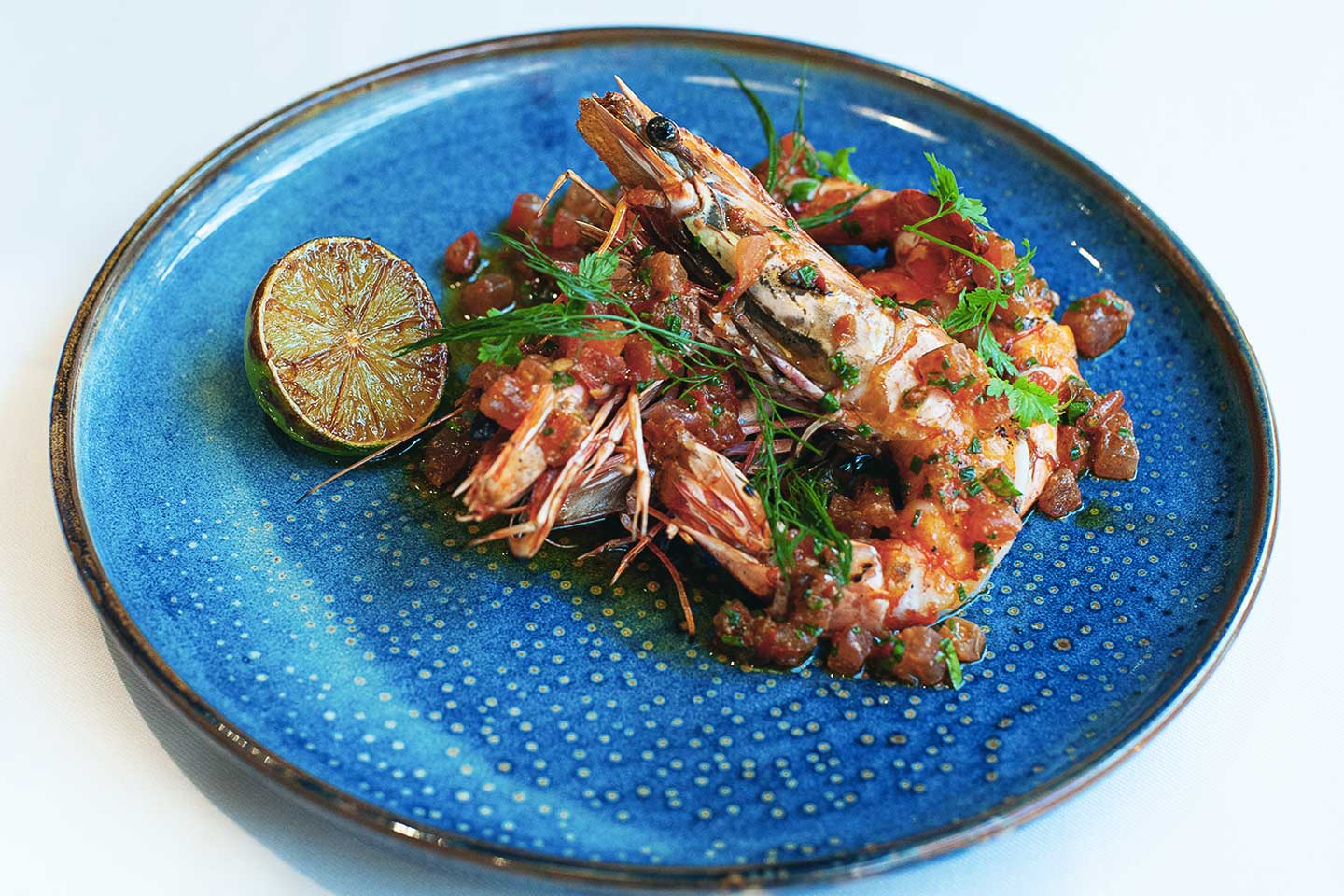 Grilled Wild Tiger Prawns